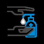 コロナ対策消毒液設置